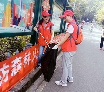 南順義工隊參與深圳南山公園之志願清潔環境工作