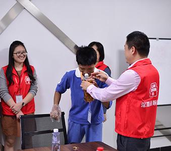 「携手同行,傳遞溫暖」深圳福利中心兒童參觀南順油脂工廠